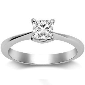 princess cut solitaire ring