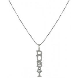 silver necklace - diamonds dubai