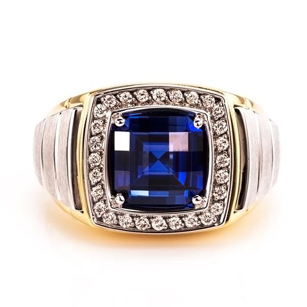Diamond Rings Sale Dubai: Blue Sapphire Diamond Ring,Men's Ring,Diamond Ring