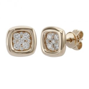 cushion shape diamond studs