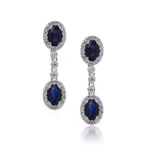sapphire dangling earrings