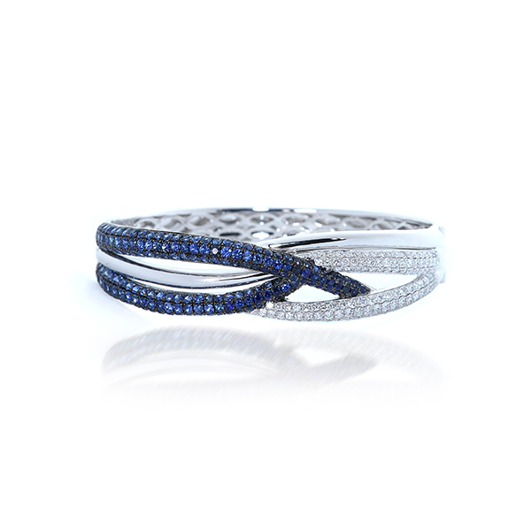 Love in Sapphire Diamond Bangle – B20046