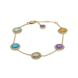 multi color stone bracelet