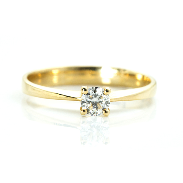 0.21 carat Solitaire Diamond Ring