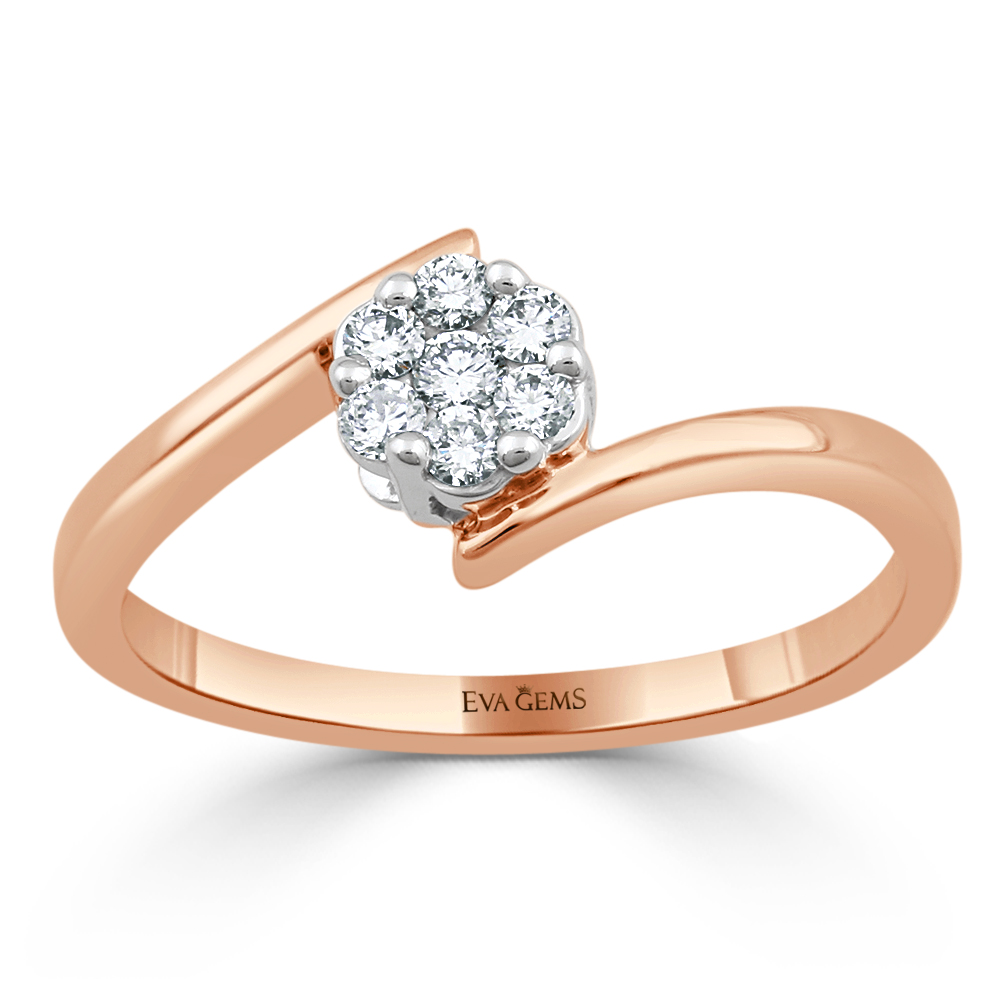 Flower Engagement Ring