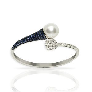 diamond and sapphire bangle