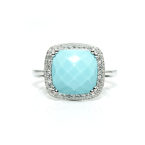 Turquoise Diamond Ring