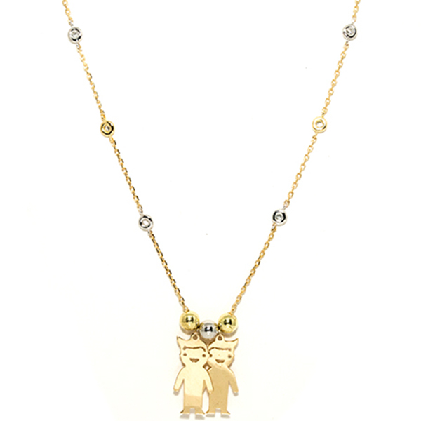 Kids Diamond and gold Necklace