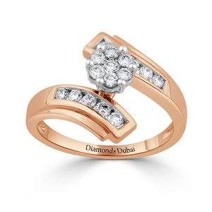 Cluster Setting Rose Gold Ring