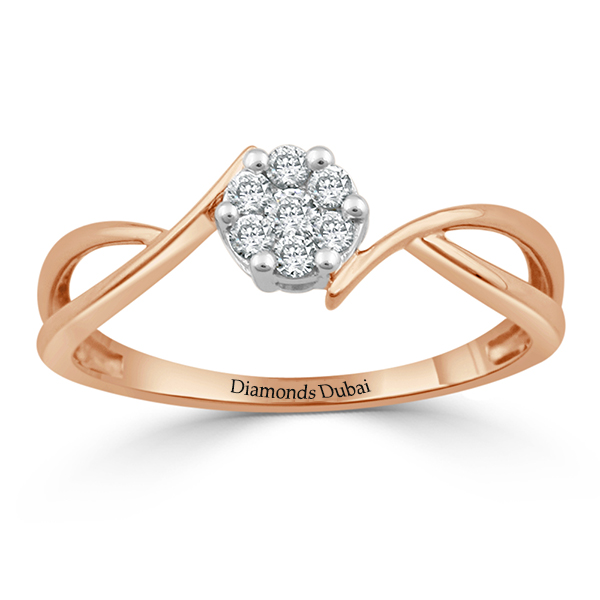 Contemporary Cluster Diamond Ring