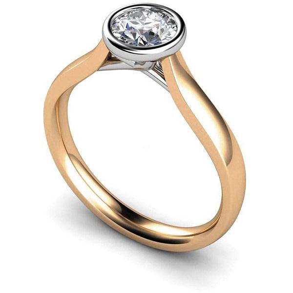 Gold diamond ring - Diamondsdubai