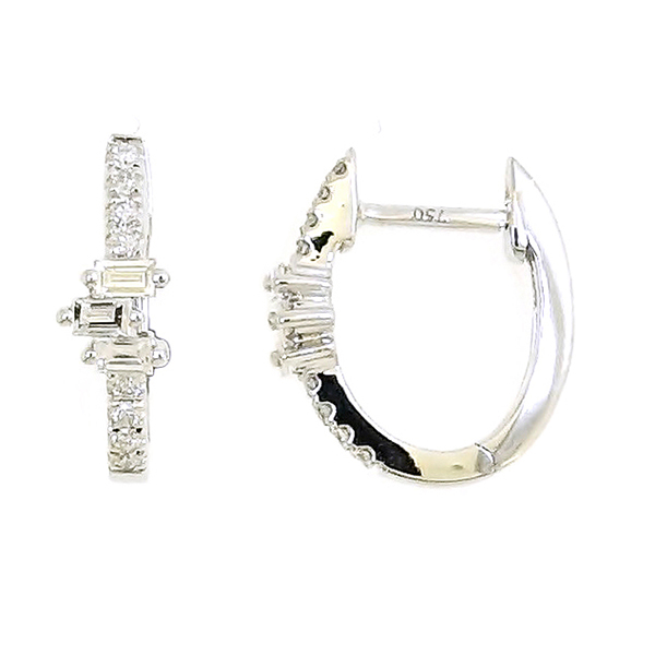 Prong Hoop Earrings