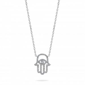Fatima Hand Diamond Necklace
