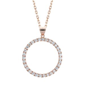 Rose Gold Diamond Circle of Necklace