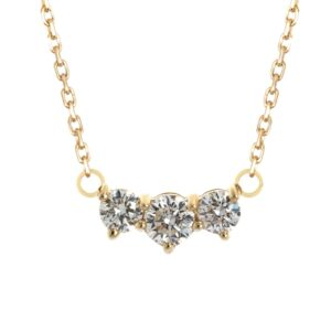 Solitaire trio Diamond Necklace