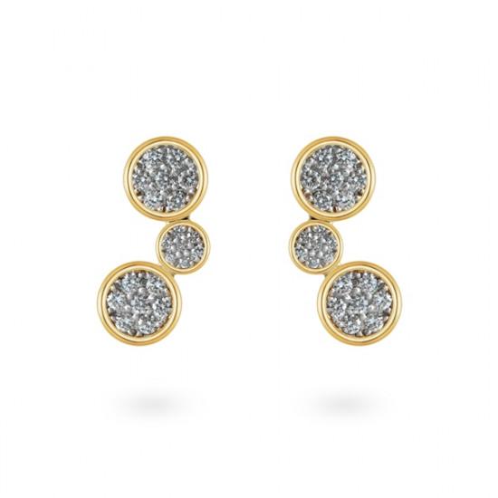 cluster dangling earrings
