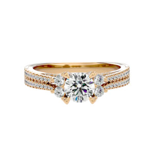 Dual Band Solitaire Engagement Ring