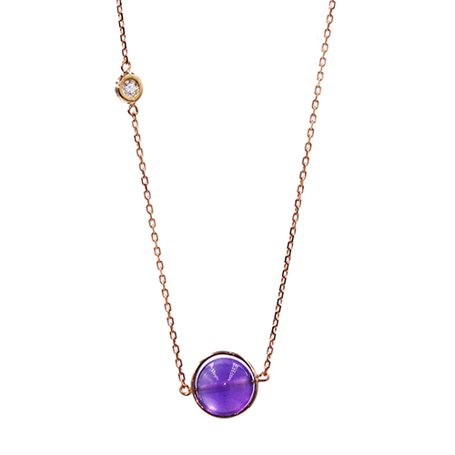 Amethyst and Diamond Necklace