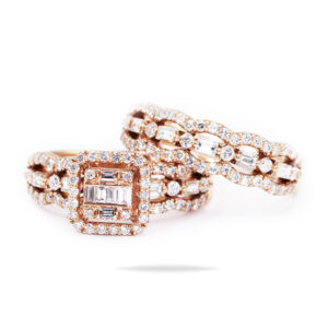 Rose Gold Twin rings