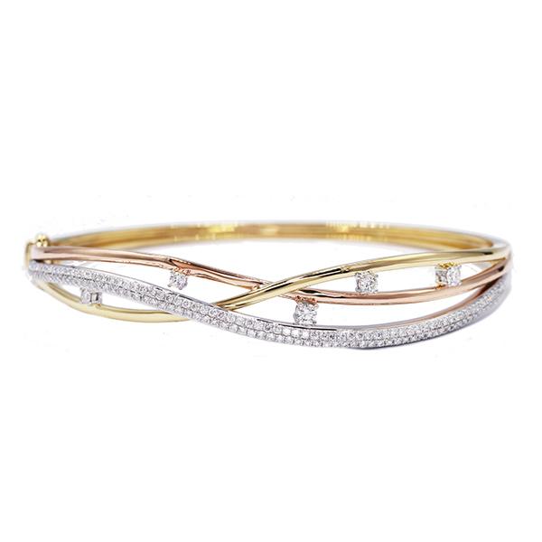 diamond and gold bangle